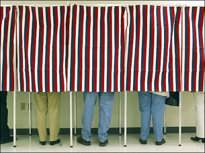 people at voting booth election 2012 november 6th