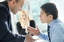 coworkers talking, fixing problems, meeting between employees