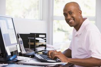 telecommuting man