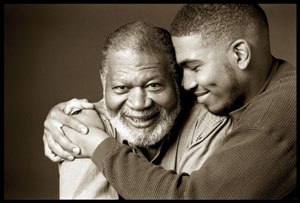 elder care man with father